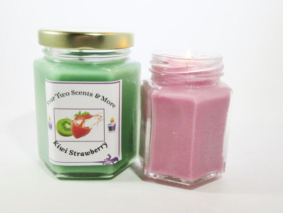 Kiwi Strawberry Scented Soy Candle - Homemade Scented Soy Candle - Soy Candle - Scented Candle - Easter Candle - Easter Gift - Gift For Mom