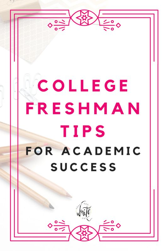 College Freshman Tips for Academic Success | Study times, time management advice, and useful degree planning info for new and first year college students. These tips will help you be a more successful student. Click through to check them out!