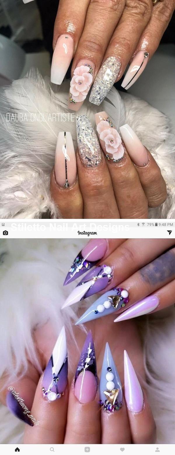 30 große Stiletto Nail Art Design-Ideen #naildesign – Anziehsachen