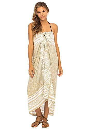 1a64df4335 Back From Bali Womens Beach Dress Sarong Bikini Swimsuit Cover up Wrap with Easy  Built-in Ties