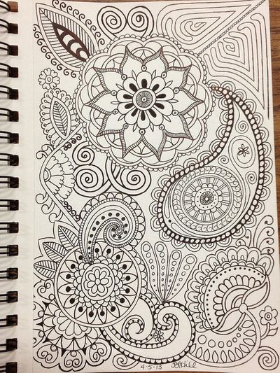 Zentangle inspired--cool ideas to fill in a mandala