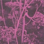 Papier peint noir motif bucolique COW PARSLEY - Cole and Son - Au fil des Couleurs