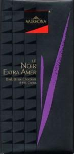 Valrhona Noir Extra Amer 85% dark chocolate. 5g sugar per 40g serving. Found at Trader Joe's.