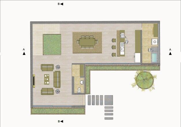 Planta arquitectonica nivel #1