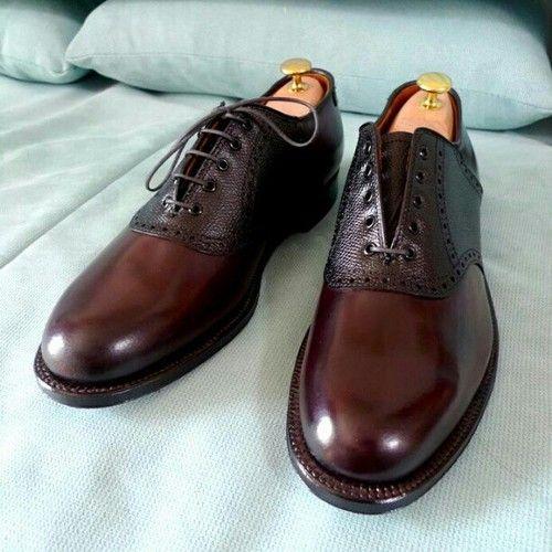 Saddle Cordovan Mens Shoes