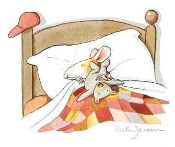 "Anita Jeram's artwork -  I'll call it: ""Good-night, Slugger!"""