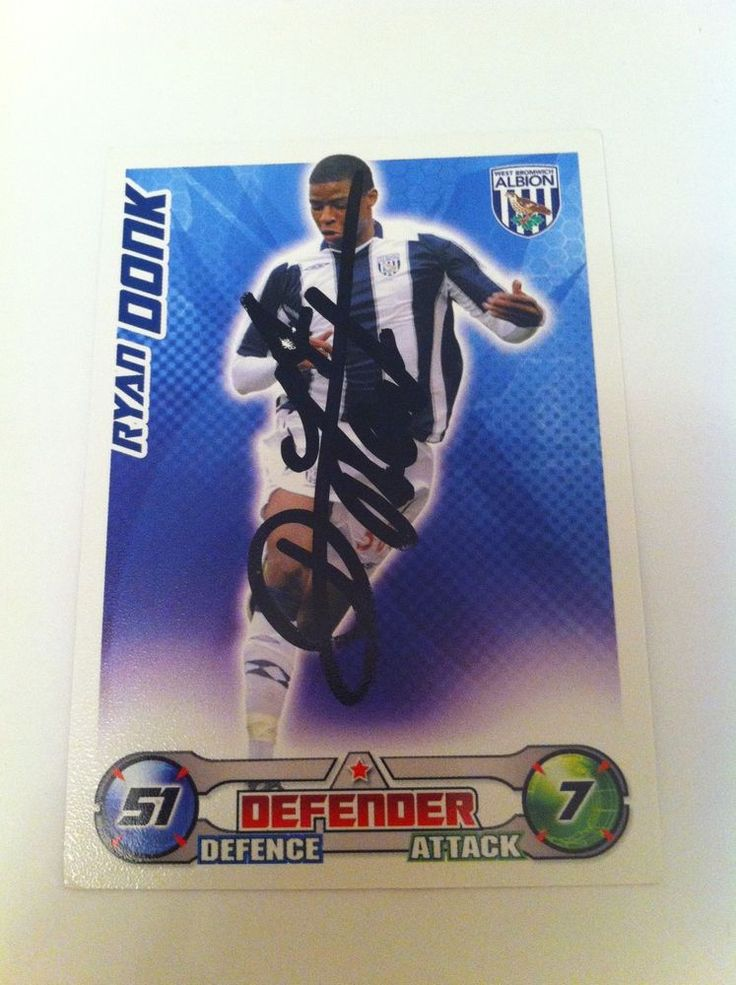 Ryan Donk Footballer West Bromich Albion Signed Trading Card/autograph