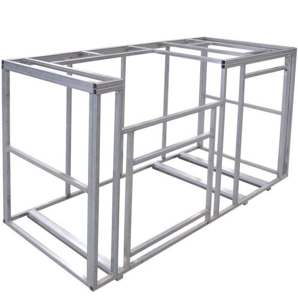 Cal Flame 6 Ft Outdoor Kitchen Island Frame Kit Kd F6002 The Home Depot Modular Outdoor Kitchens Kitchen Island Frame Outdoor Kitchen Island