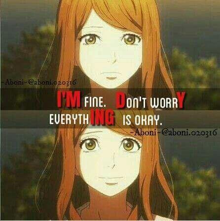 Je vais bien, ne vous inquiétez pas, tout va bien...