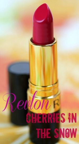 Revlon Cherries In The Snow Lipstick; beautiful creamy bright raspberry color; perfect lip color for light-makeup days as it is a standout and for autumn/winter seasons