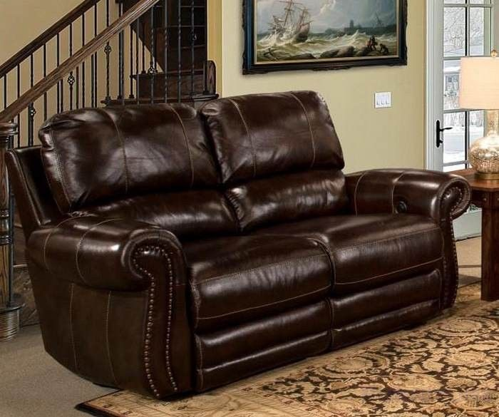 parker living thurston power dual reclining loveseat in havana leather mthu822p