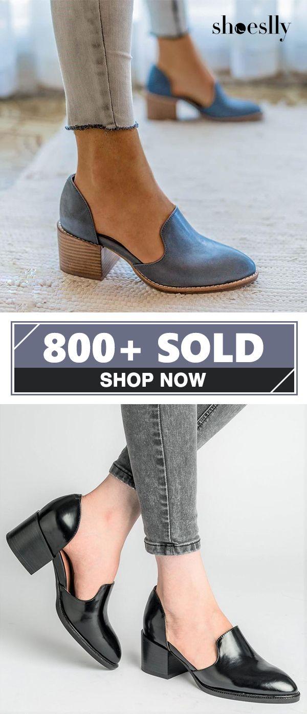 78c3e461eb  38.99 USD Free Shipping! SHOP NOW   Women Spring Chunky Heel Casual ...