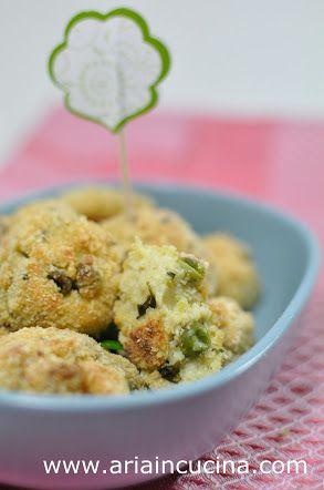 Blog di cucina di Aria: Polpette di miglio e Kamut con ricotta e piselli