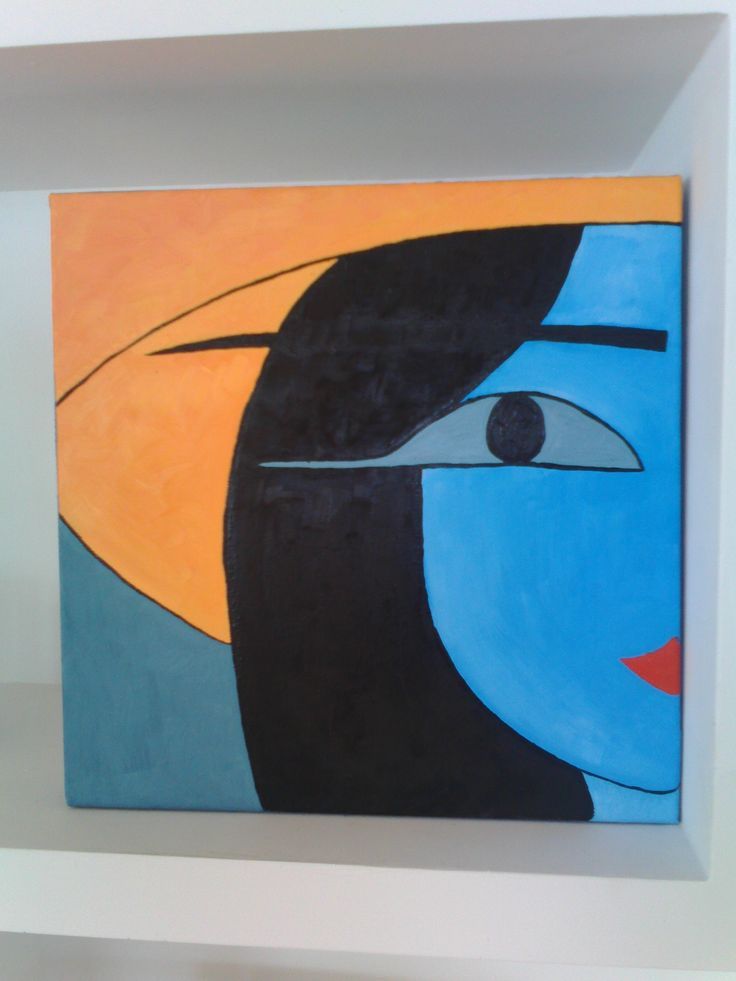 Painting by Marta Iglesias. Blu collection