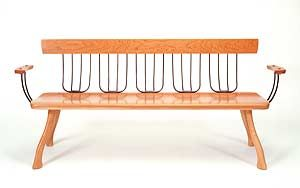 Pitchfork Bench by Brad Smith: Wood Bench available at www.artfulhome.com