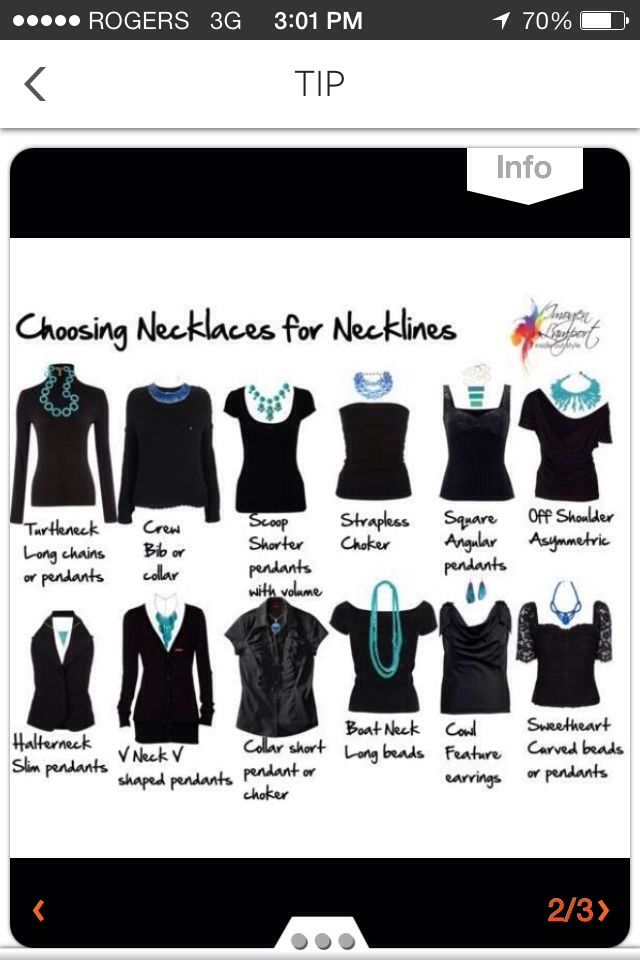 Wondering What Necklace To Wear Today? Use This Chart To Find Out!