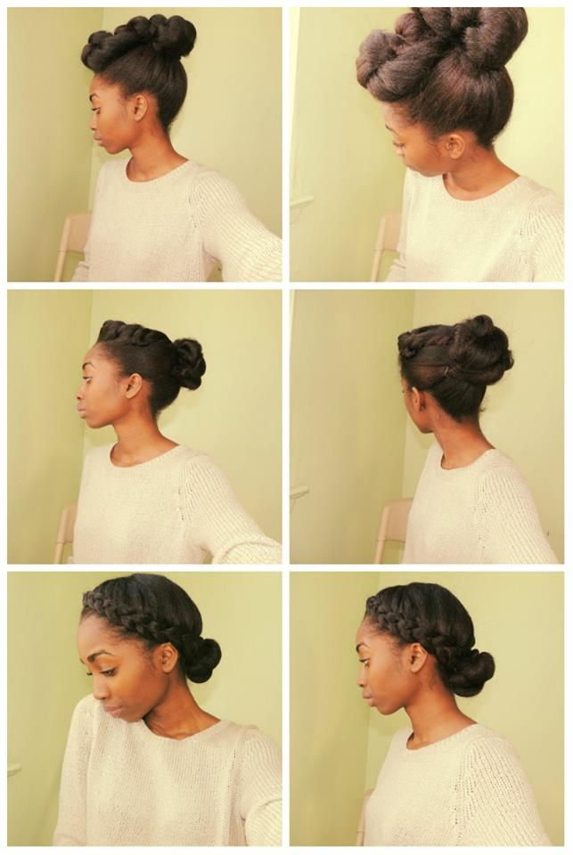 Pin of the day! We loved these protective styles for #naturalhair. Keeping your ends nicely tucked away.