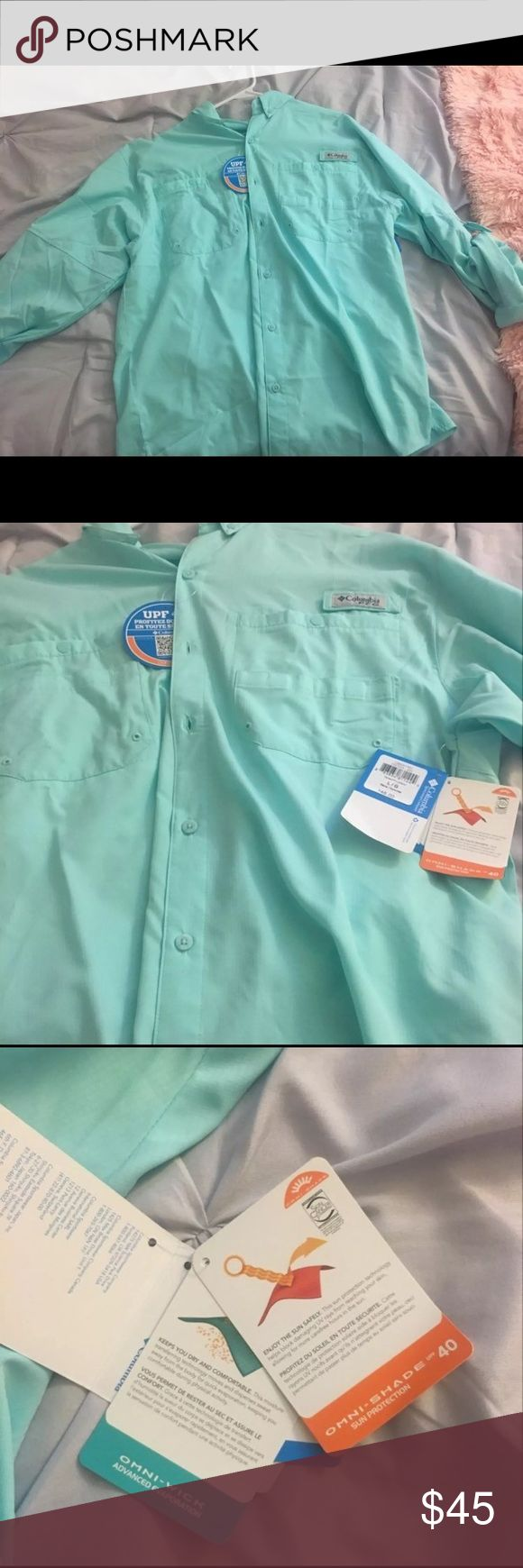 Men's long sleeve Columbia PFG Shirt New with tags! Never worn Columbia Shirts Casual Button Down Shirts