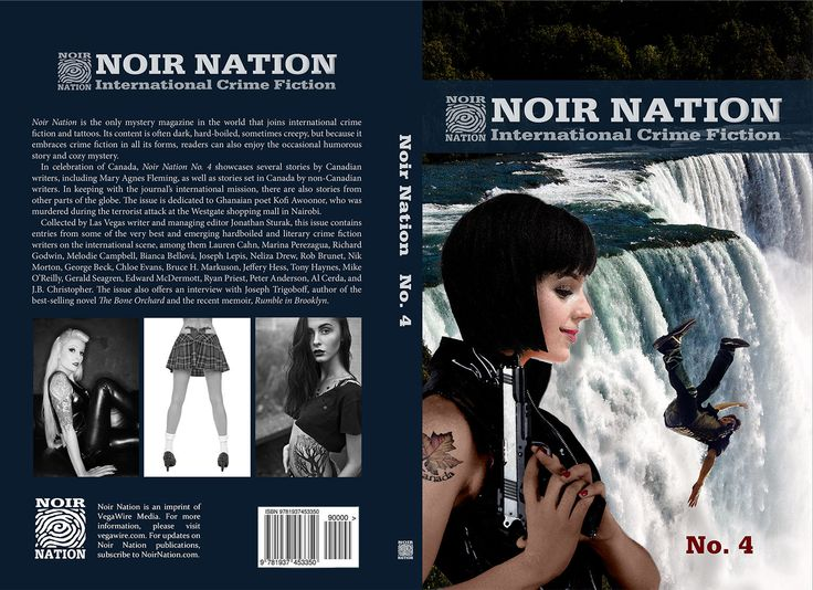 That was not a finger making a point on your chest. It was a bullet. When you land somewhere in the white froth below, it will be either on rocks or on water or a bit of both. But you won't feel anything... not by then. Noir Nation No. 4 The Canada Issue now out in print.