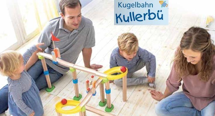 Familie Spiel mit der Berg- und Talfahrt Kullerbü von HABA