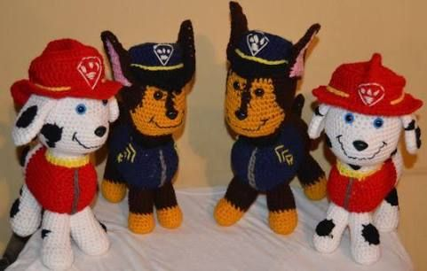 Marshall Paw Patrol Crochet Hat Pattern Free : 1000+ images about Amigarumi on Pinterest Amigurumi, Paw ...