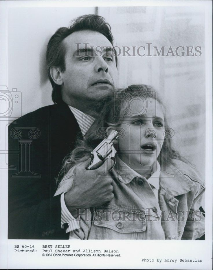 "1987 Press Photo Paul Shenar and Allison Balson in ""Best Seller"""