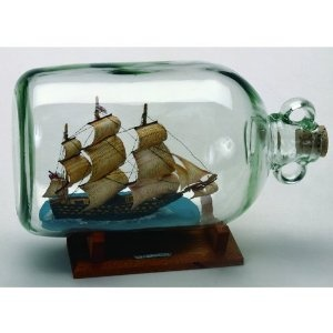 Ship-in-a-bottle.....for a fireplace mantle decoration.