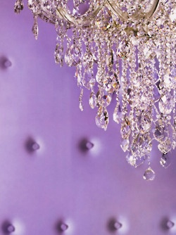 Beautiful <3: Dreams Home, Purple Crystals Chand, Chand Sparkle, Purple Rooms, Crystals Chandeliers, Purple Pantone, Color Purple, Radiant Orchids, Purple Wall