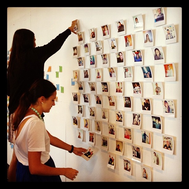 Instagram'ing the making of an #instagram #polaroid #wall by kskobac, via Flickr