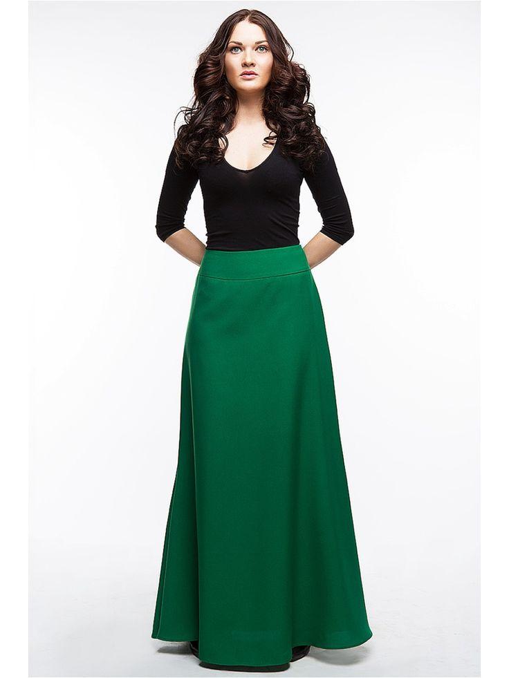 green long skirt MSLS