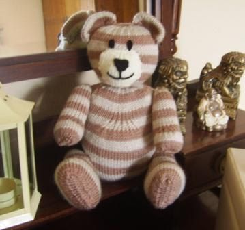 Go Faster Bear Knitting Pattern. Knit Your Own Toy Bear in Double Knitting - PDF