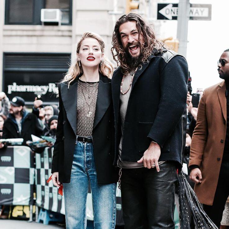 Jason Momoa And Amber Heard In NY For Aquaman