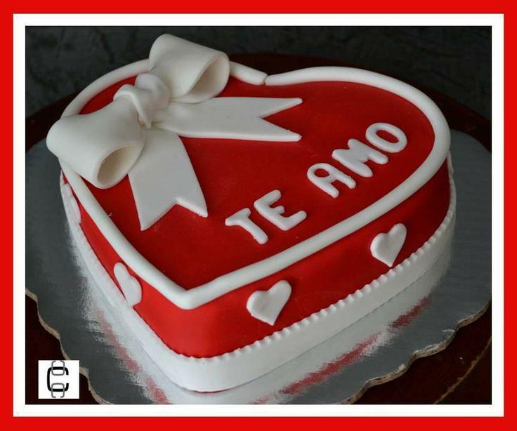 Fondant valentine s heart cake pastel de coraon de san - Decoracion de san valentin ...