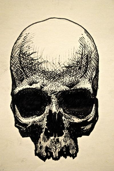 25 best ideas about cool skull drawings on pinterest for Cool easy pen drawings
