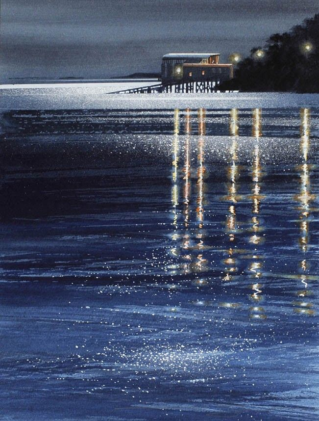 SEASCAPES - NAOMI TYDEMAN  RI               I love this, it's in Wales. Beautiful painting, wonderful place.