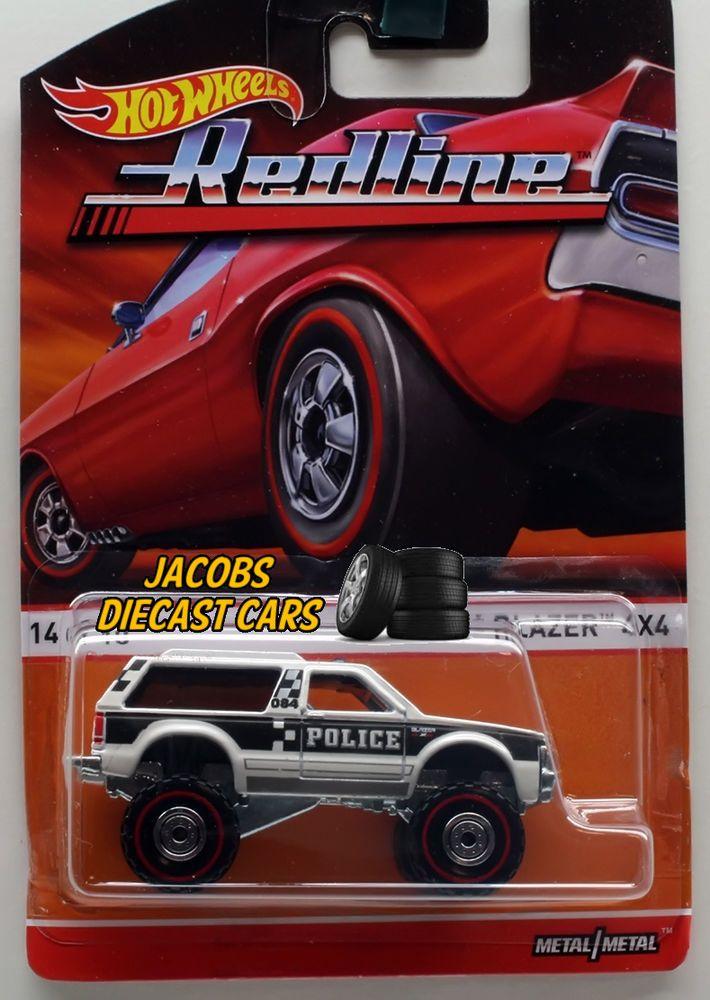 1:64 HOT WHEELS HERITAGE REDLINE F CASE - CHEVY BLAZER 4x4 POLICE 14 of 18 #HotWheels #Chevrolet