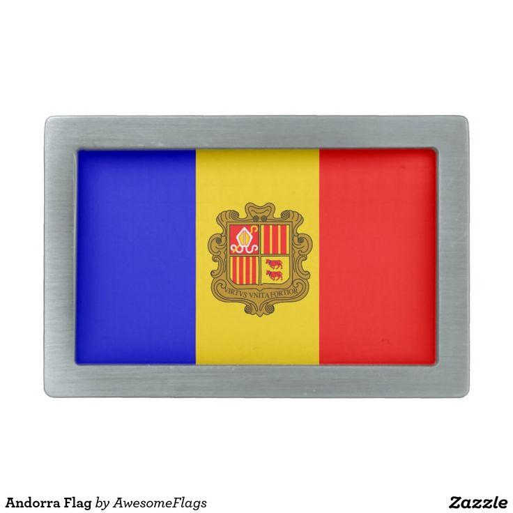 Andorra Flag Belt Buckle