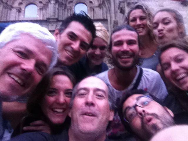 Selfie despues de la misa de llegada con algunos del grupo !!