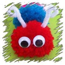 Rupsje van wol ~ www.knutselboom.nl