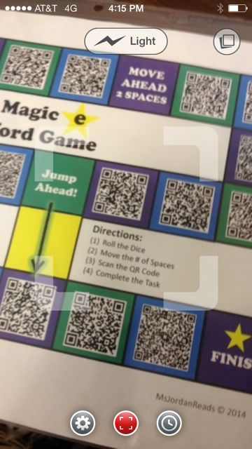 QR Code Interactive Phonics Game Board