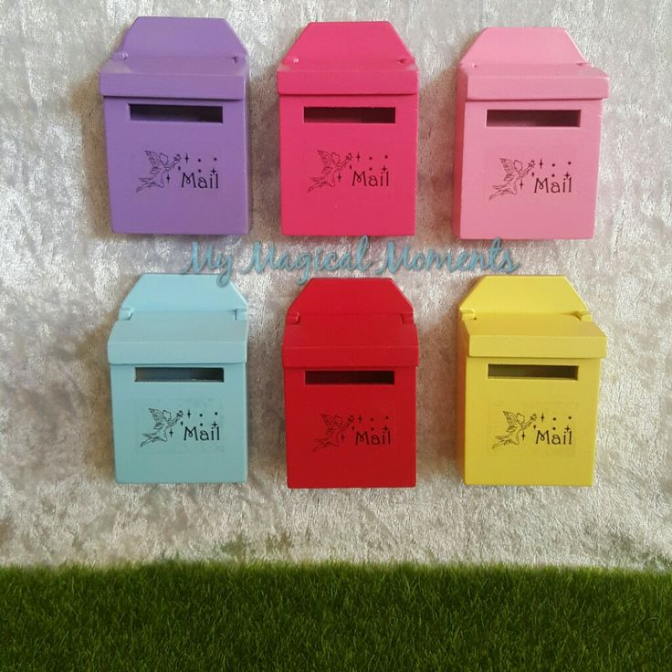 One way to make sure we still keep in touch with our Fairy Friends is to send them a letter The Fairy mailbox is a great way to keep in contact with our magical friends They come in 6 great colours to choose from including blue pink purple red rose pink and yellowEach mailbox measures approximately 70mm h x