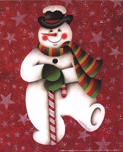 <3 Jolly Dancing Snowman -=- Happy Holiday Cheer to All of Our Pinterest Friends :)
