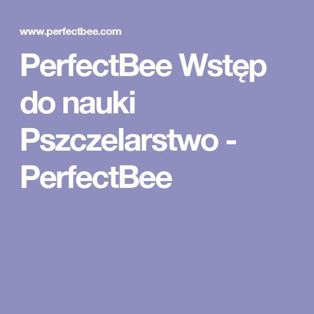 PerfectBee Wstęp do nauki Pszczelarstwo - PerfectBee