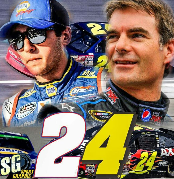 24 from Jeff Gordon to Chase Elliott