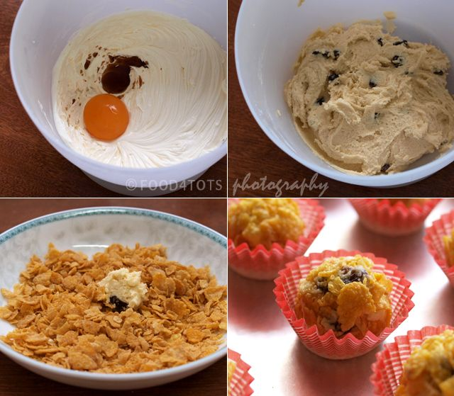 cornflake cookies, cornflakes cookies, raisin cornflake cookies, Chinese New Year cookies, festive cookies, Hari Raya cookies, food for tots, recipes for toddlers, cornflake biscuits, picky eaters, snack