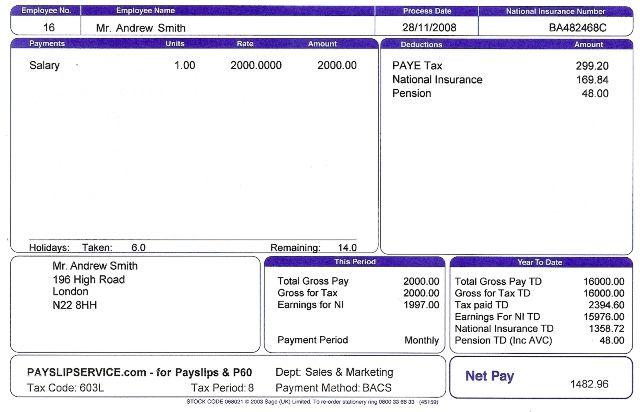 21 Free Payslip Templates Printable Word Excel Pdf