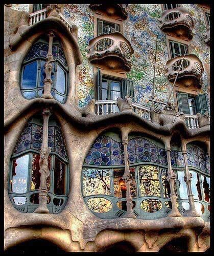 Casa Batlló is an amazing building restored by Antoni Gaudí in Barcelona, Spain