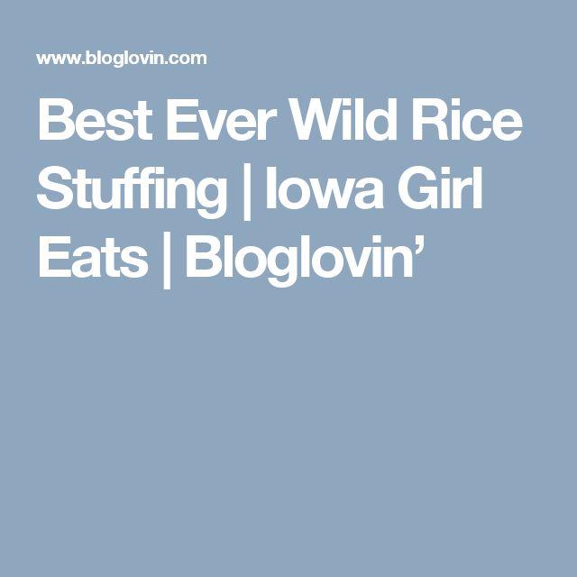 Best Ever Wild Rice Stuffing   Iowa Girl Eats   Bloglovin'