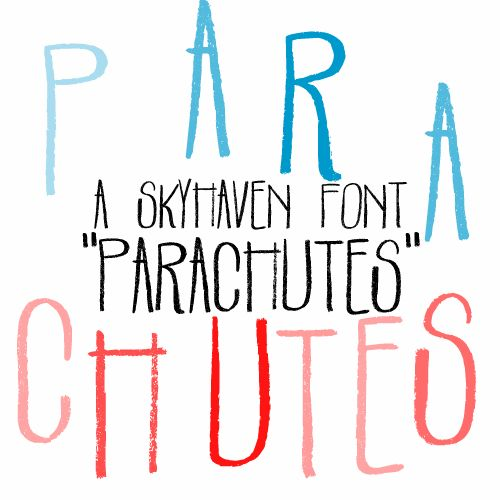 Parachutes font by Skyhaven - FontSpace