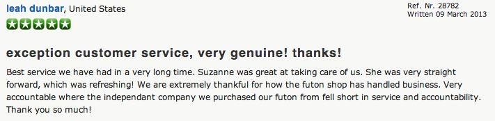 Review - The Futon Shop San Francisco - 2150 Cesar Chavez St SF, CA 94124 (415) 920-6801 Corporate Office Line: (415) 920-6800